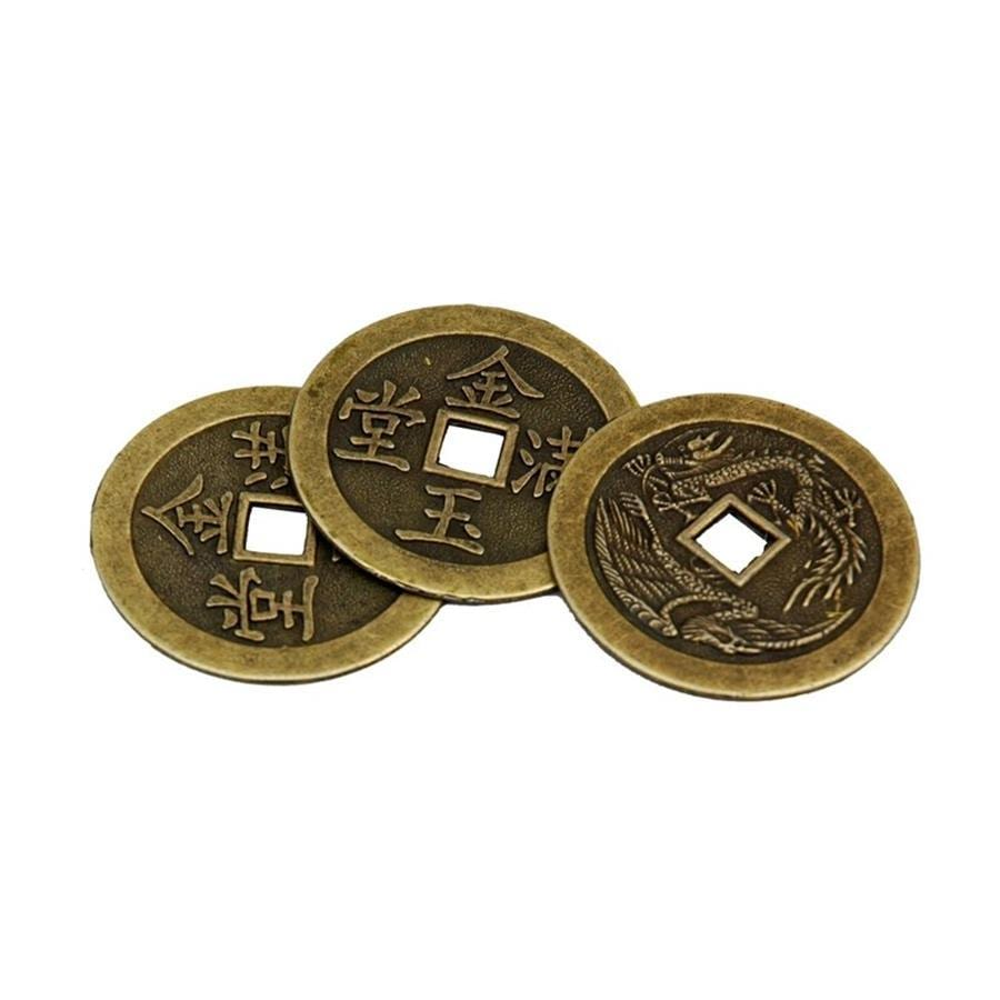 Oriental Furniture Single Round Coin Tabletop Decoration