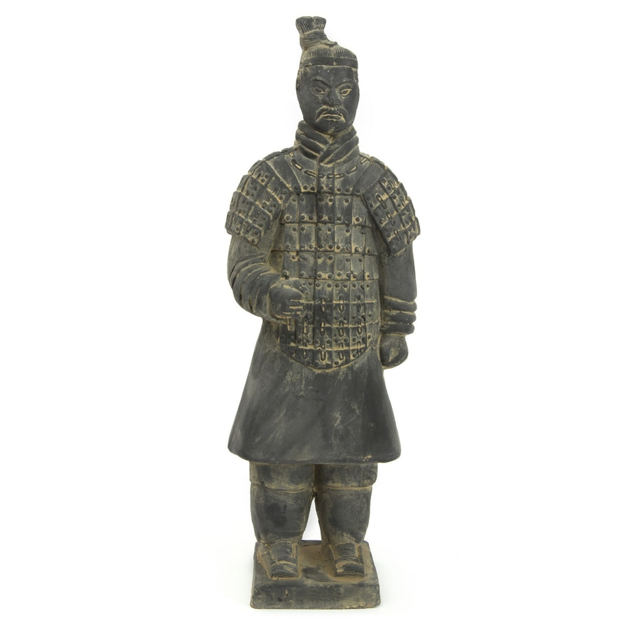 Oriental Furniture Resin 14-in Xian Terra Cotta Warrior Statue