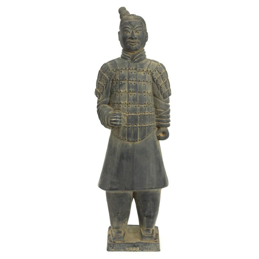 Oriental Furniture Resin 20-in Xian Terra Cotta Warrior Statue