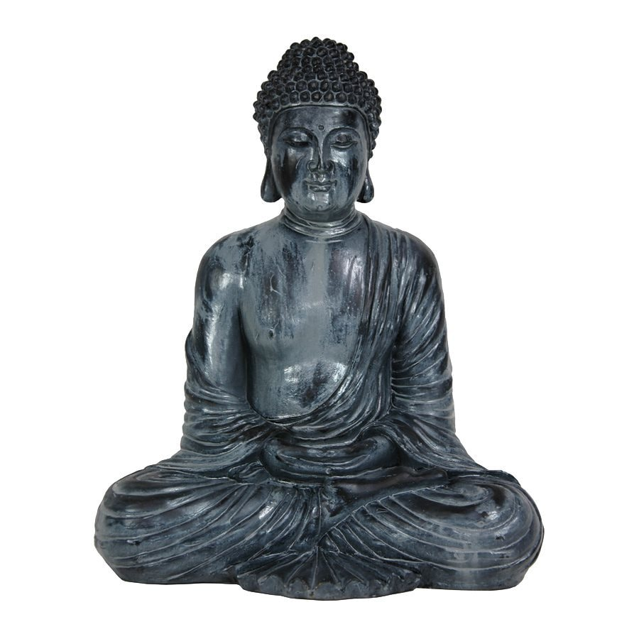 Shop oriental furniture resin japanese sitting buddha statue at lowes