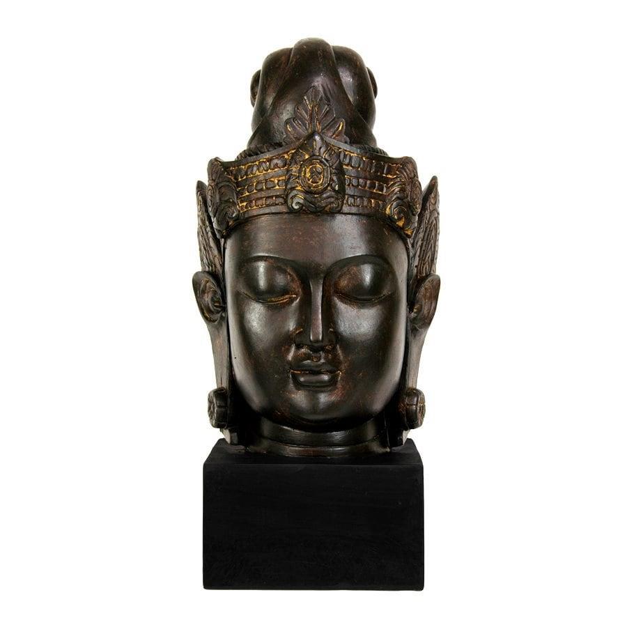 Oriental Furniture Resin Cambodian Buddha Head Statue