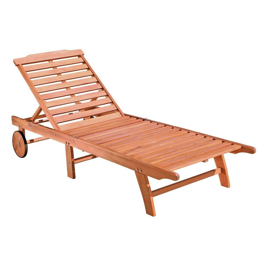 shop vifah eucalyptus patio chaise lounge at