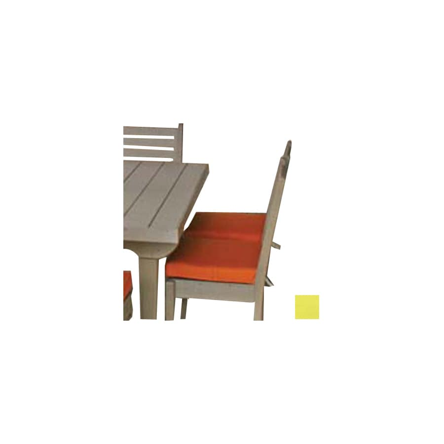Eagle One 17.5-in L x 17-in W Butter Cup Patio Chair Cushion