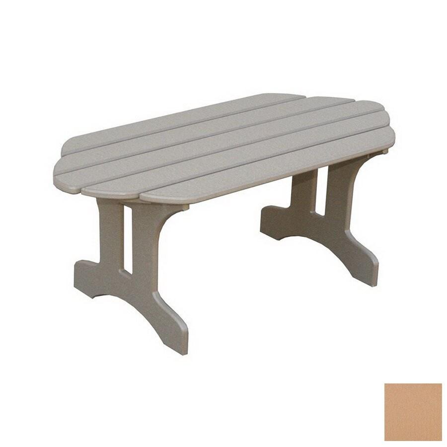 Adirondack Coffee Table Set: Eagle One Adirondack Plastic Oval Patio Coffee Table At