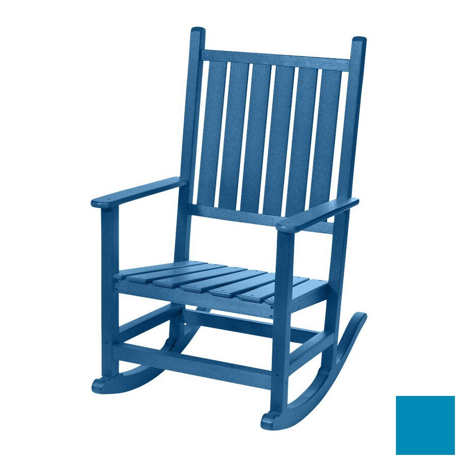 Beachfront Furniture High Tide Bahama Blue Plastic Outdoor Rocking