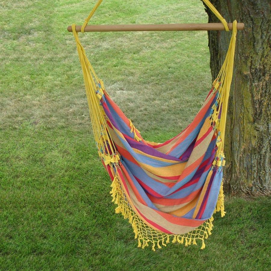 Vivere 3-ft 9-in Multicolor Cotton Single Hammock