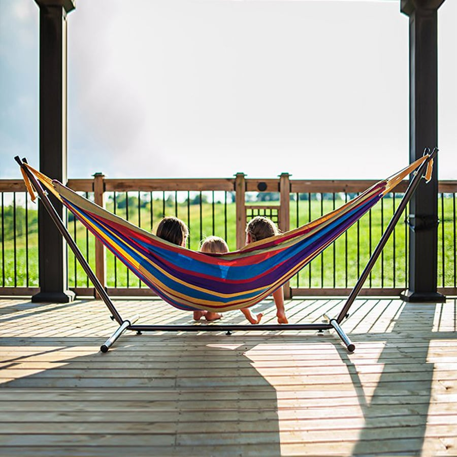 Shop Vivere Tropical Fabric Hammock Stand Included At