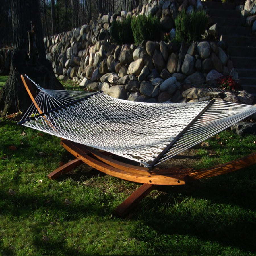 Shop Phat Tommy Outdoor Oasis Natural White Rope Hammock