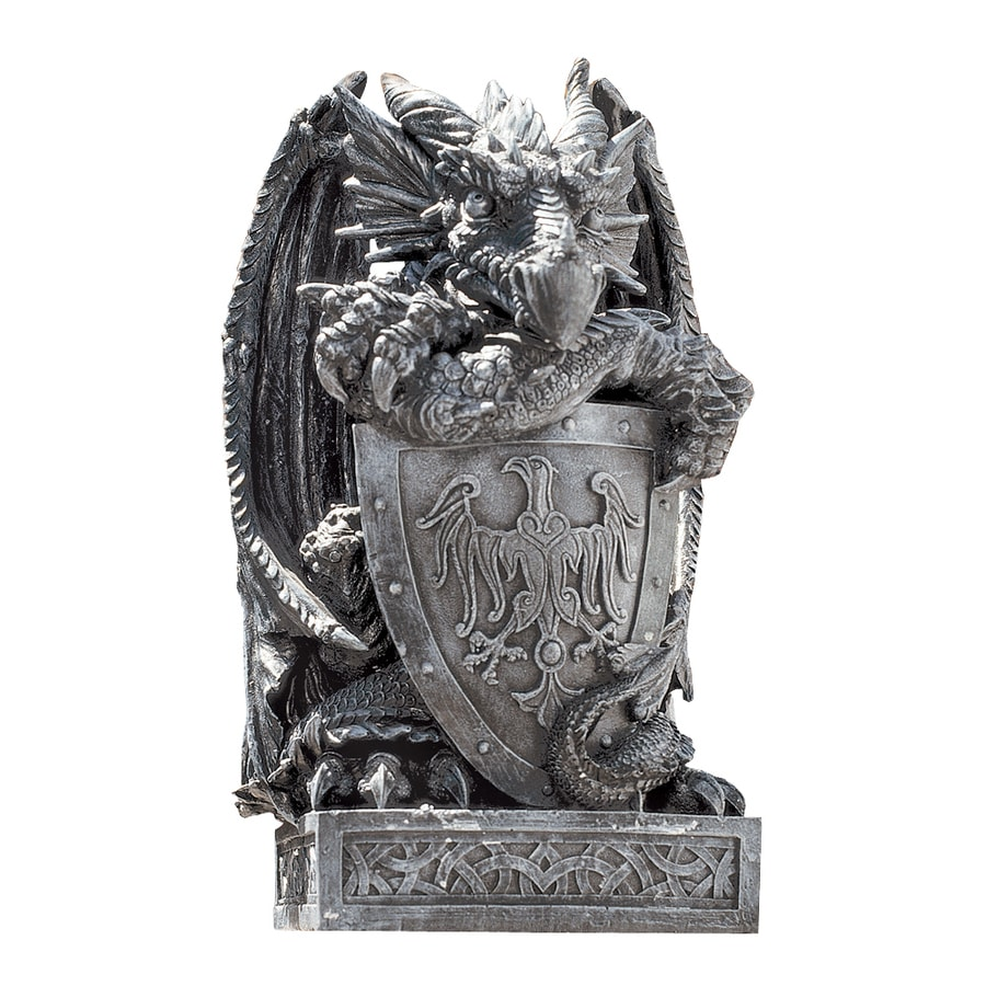 Design Toscano Shield The Arthurian Dragon 17.5-in Garden Statue