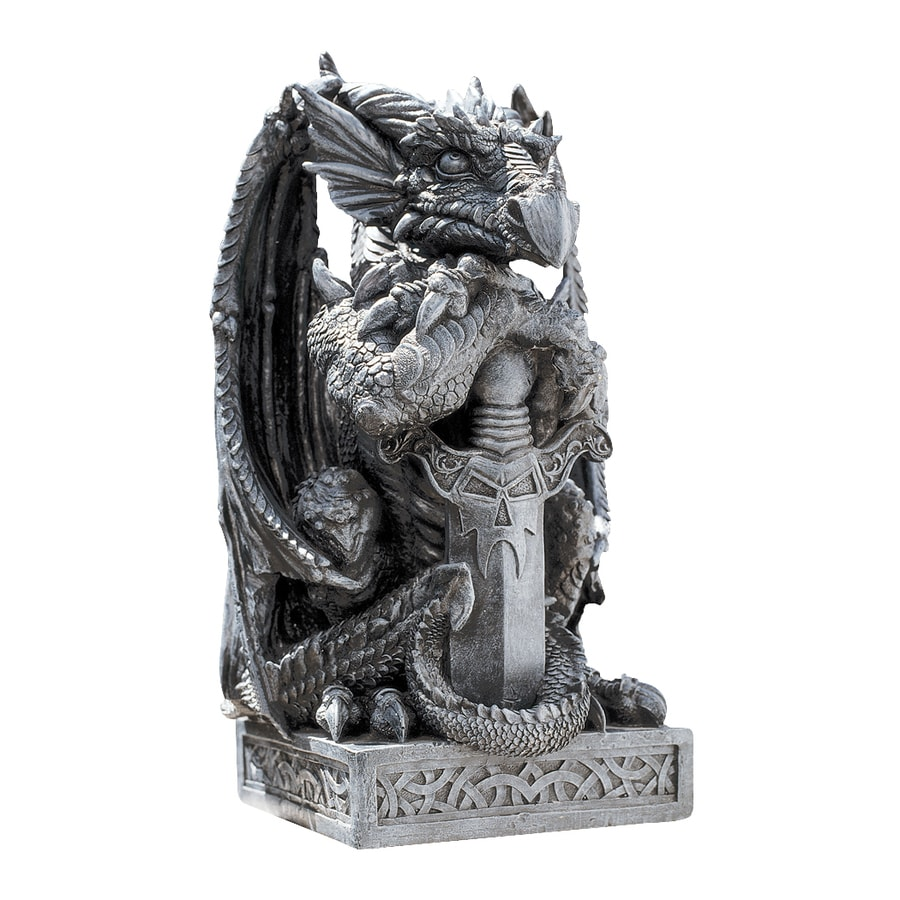 Design Toscano Sword The Arthurian Dragon 17.5-in Garden Statue