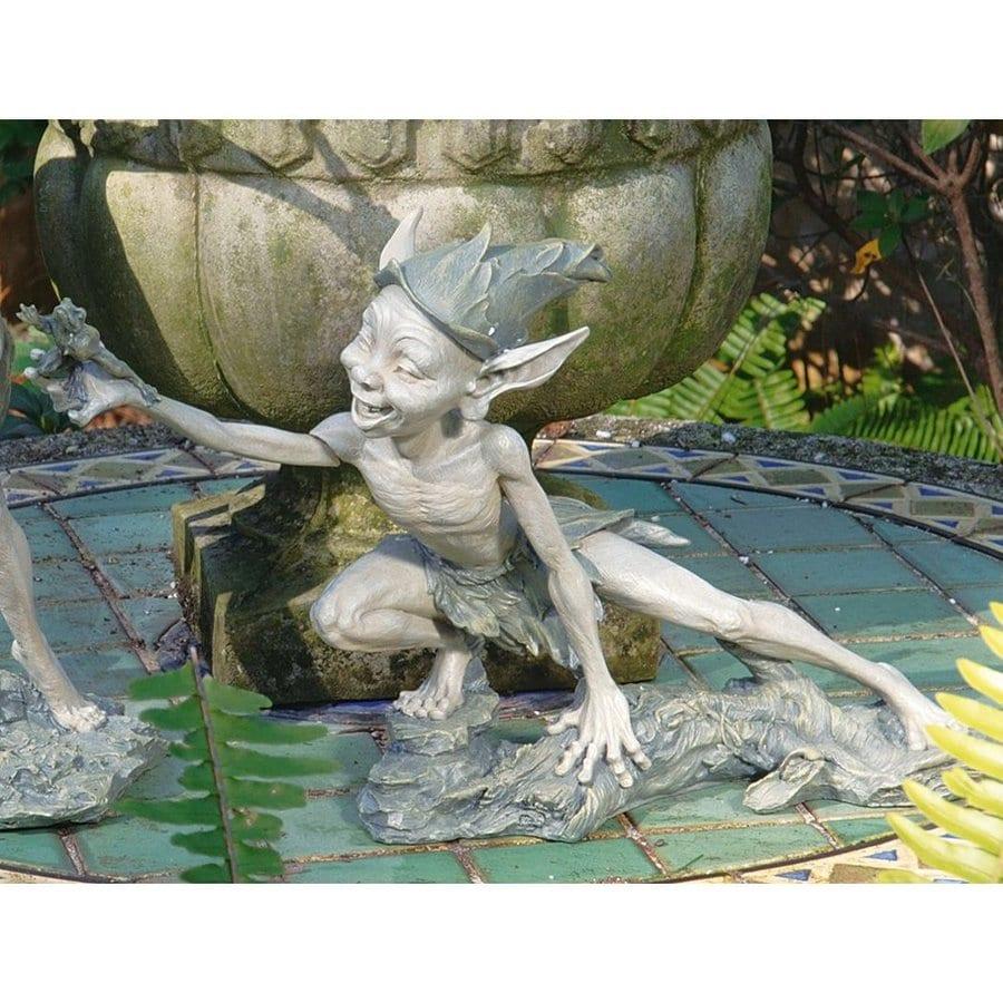 Design Toscano Stretch Garden Pixie 10.5-in Fairy Garden Statue