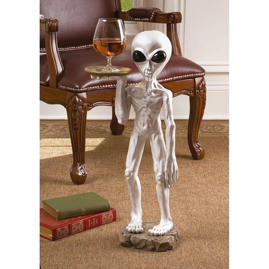 Design Toscano Roswell The Alien Butler Freestanding Alien Statue