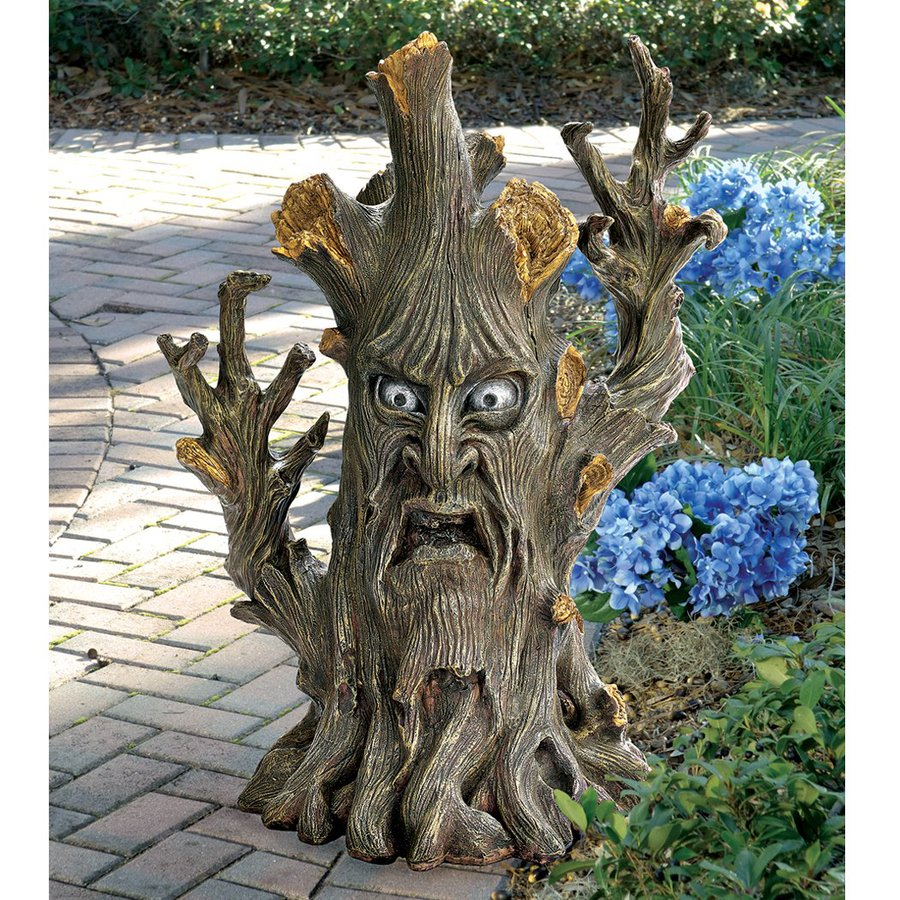Design Toscano Bark The Black Forest Ent 24-in Tree Garden Statue