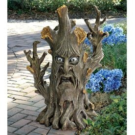 Design Toscano Bark The Black Forest Ent 24 In Tree Garden Statue