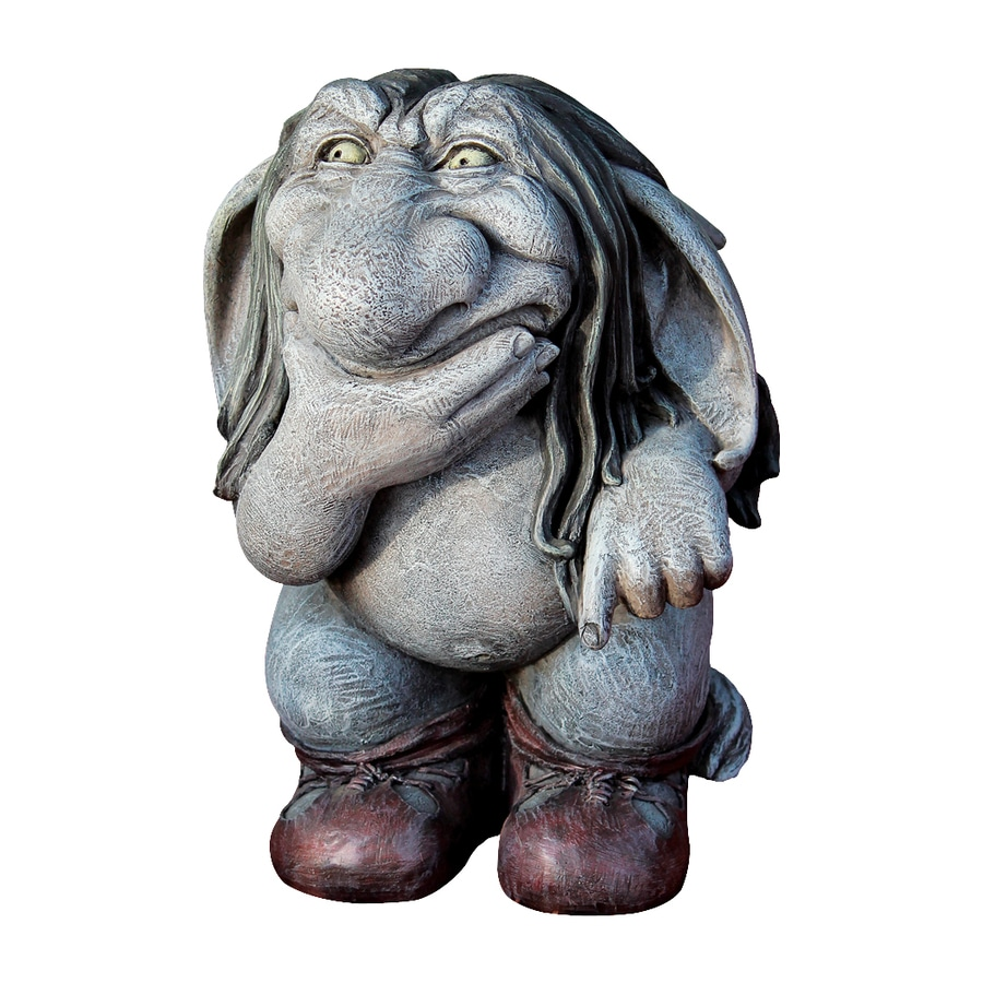 High Quality Design Toscano Pondering Sylvester The Cynical Troll 10.5 In Goblin Garden  Statue