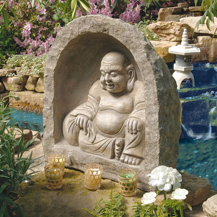 Design Toscano Great Buddha Garden Sanctuary 21-in Religion Garden Statue