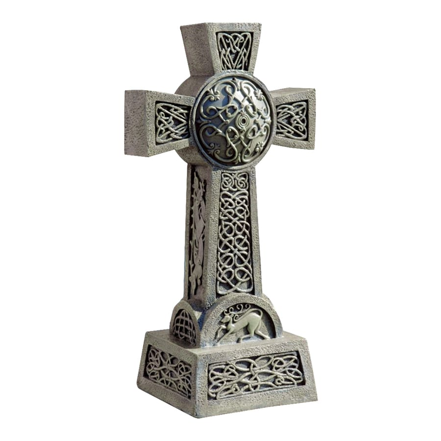 Design Toscano Donegal Celtic High Cross 22-in Religion Garden Statue