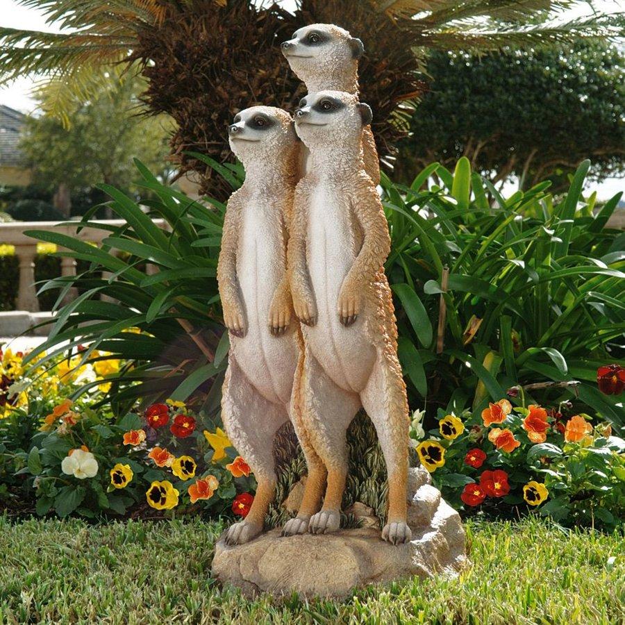 Design Toscano Meerkat Gang 26-in Animal Garden Statue