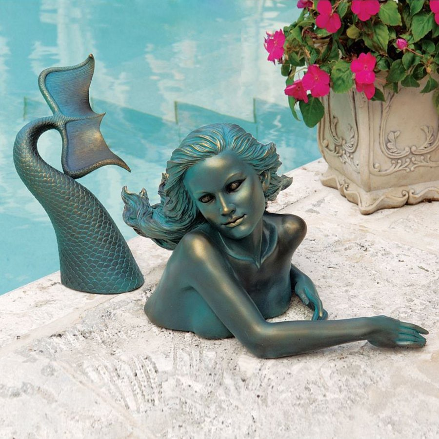 Design Toscano 7 In H Meara The Mermaid Sculptural Garden Statue