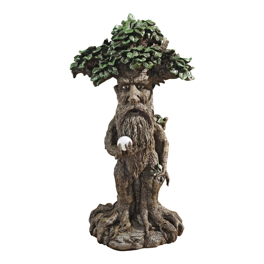 Design Toscano Treebeard Ent with Mystical Orb 24-in Tree Garden Statue