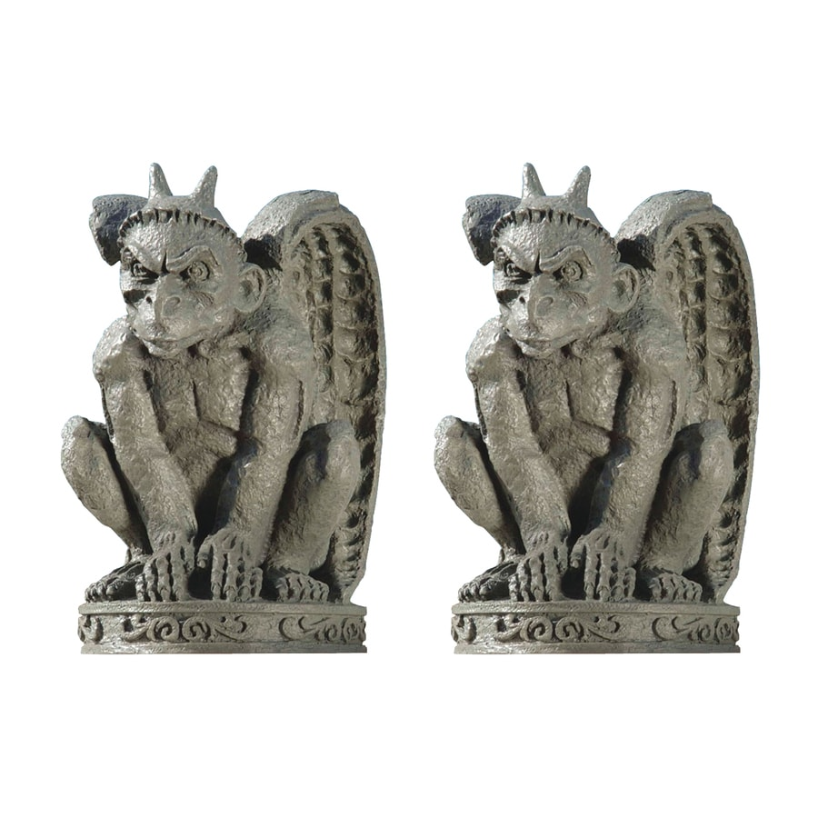Shop design toscano set of 2 cathedral gargoyle 12 in for Gargoyle decor