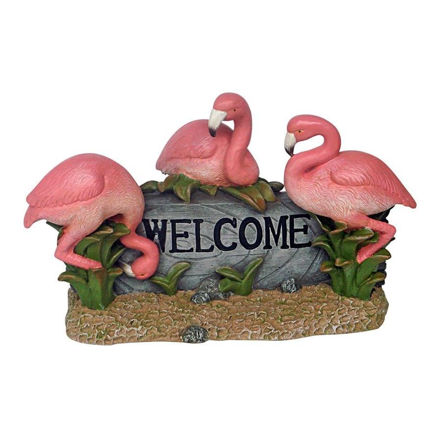 Shop Design Toscano Pink Flamingo Welcome 95 in Animal Garden