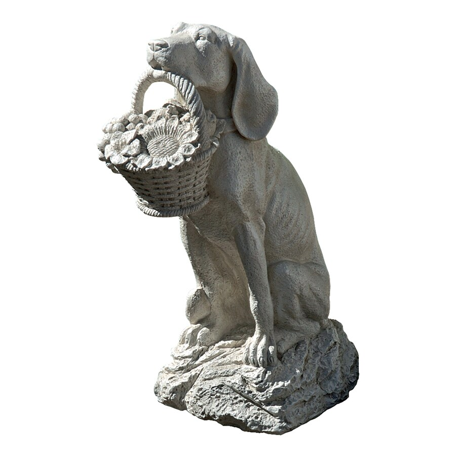 Design Toscano Man's Best Friend 19-in Animal Garden Statue