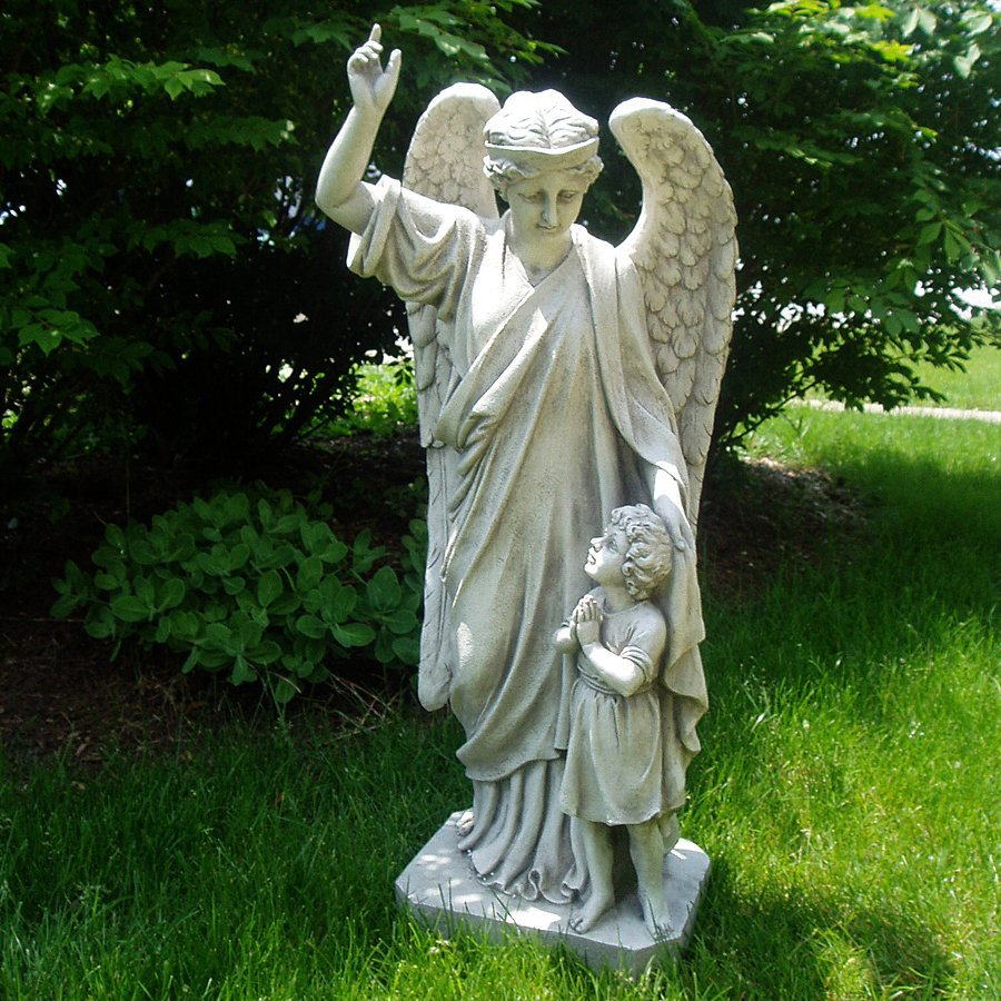 Shop Design Toscano Guardian Angel Childs Prayer 34 in Angels and