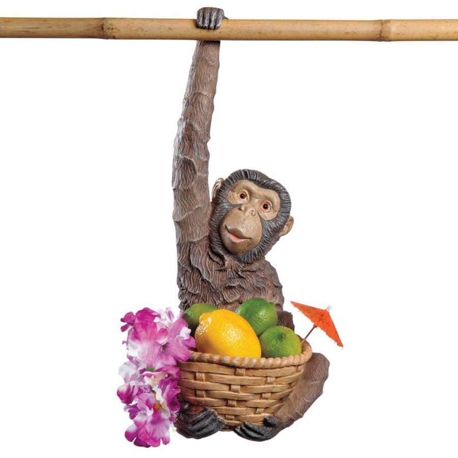 Design Toscano Monkey Business 18-in Animal Garden Statue