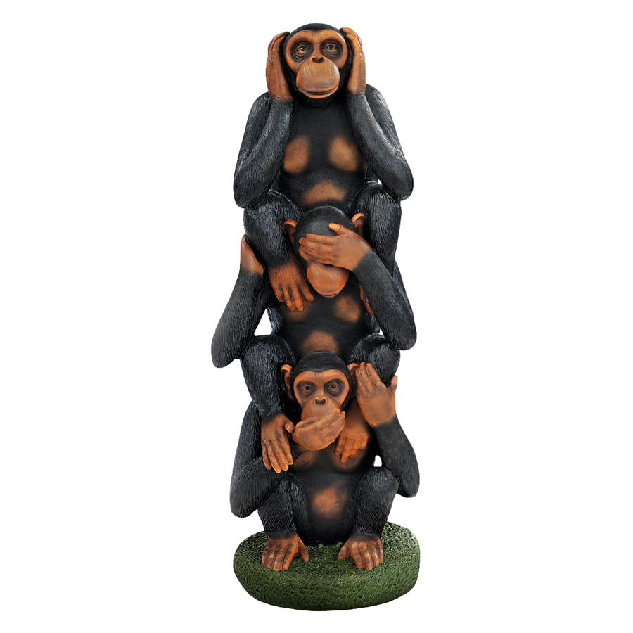 Design Toscano Hear No Evil, See No Evil, Speak No Evil 38.5-in Animal Garden Statue
