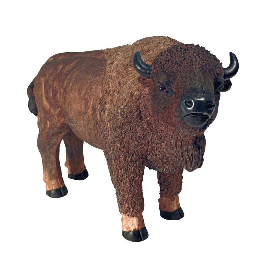 Design Toscano American Buffalo 21.5-in Animal Garden Statue