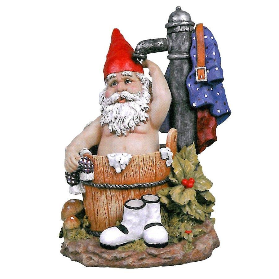 Design Toscano Tubby The Bathing Garden Gnome 15.5-in Garden Statue