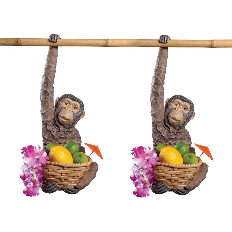Design Toscano Monkey Business 18-in Animal Garden Statue