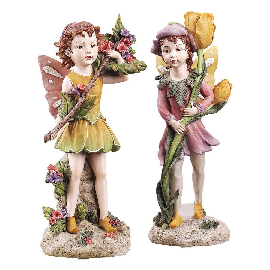Design Toscano Fairies Of The Meadow 12-in Fairy Garden Statue