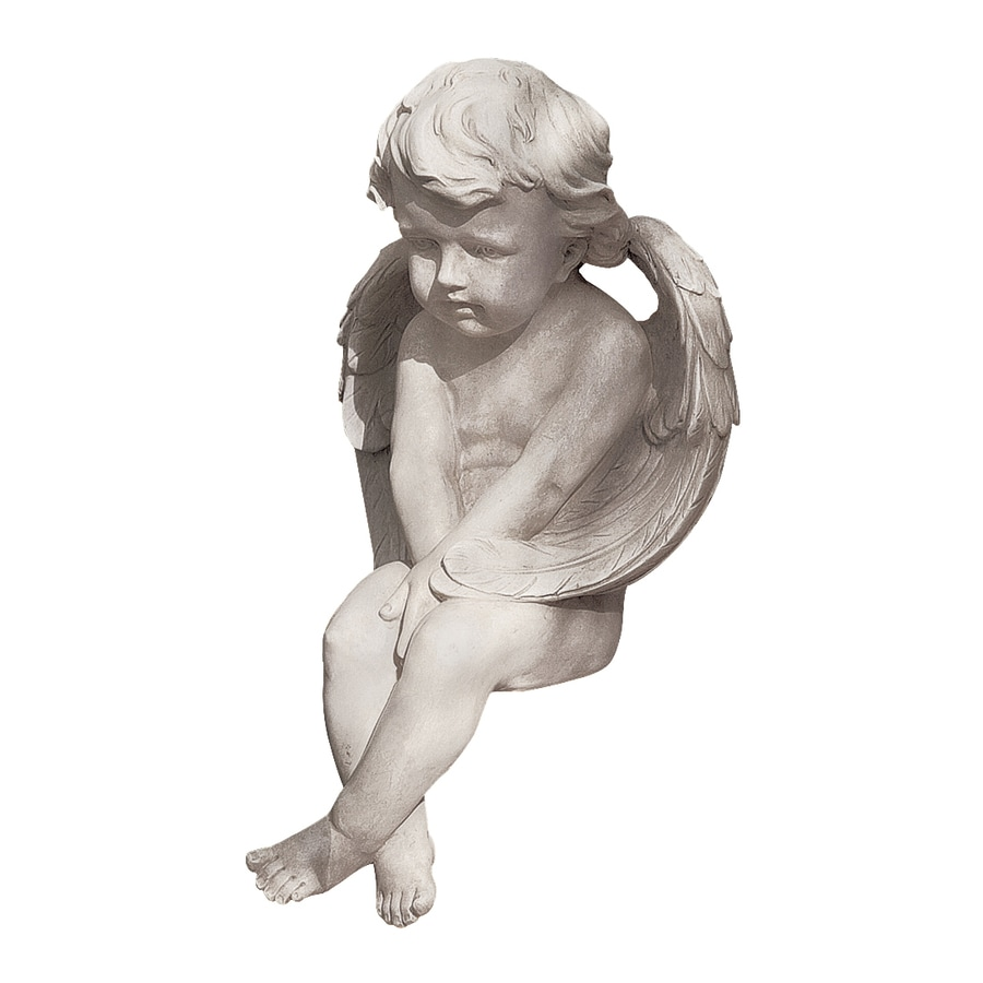 Design Toscano Angel Of Meditation 13-in Angels and Cherubs Garden Statue