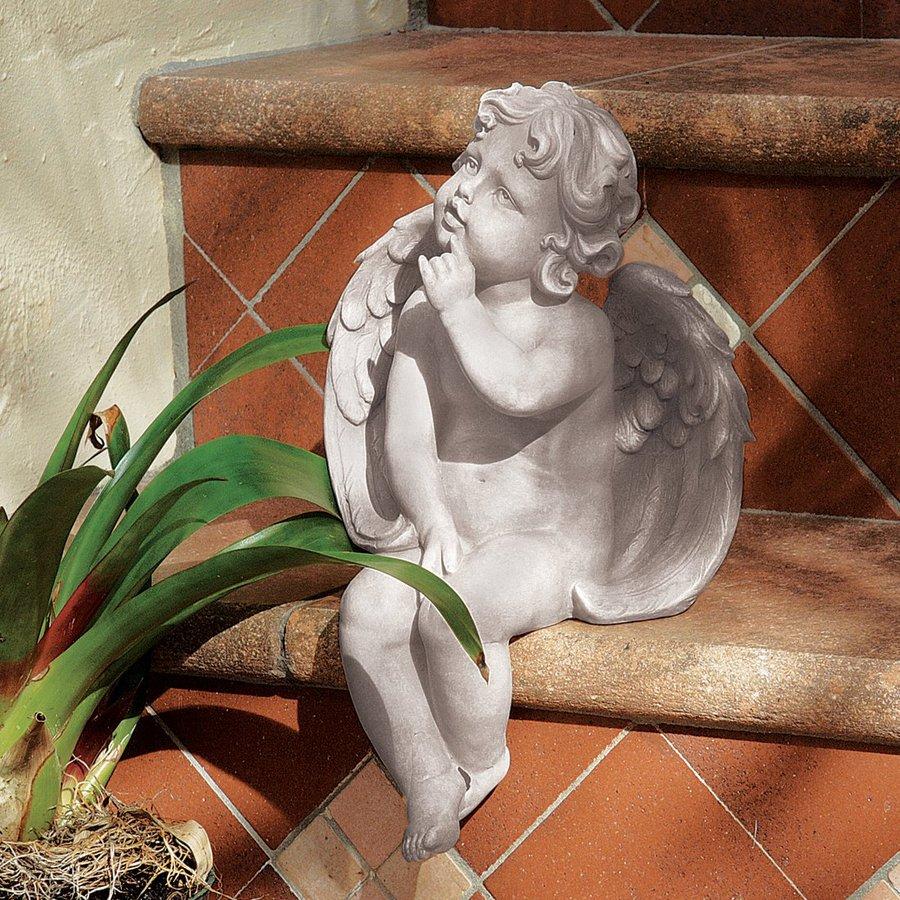 Design Toscano Angel Of Contemplation 12.5-in Angels and Cherubs Garden Statue