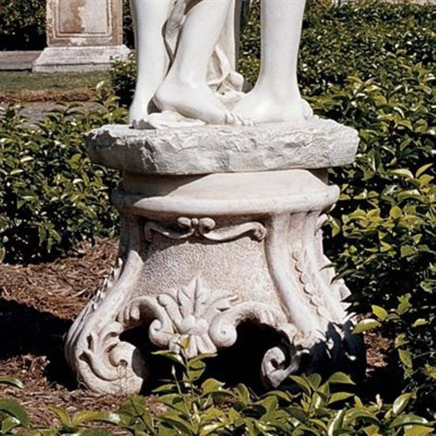 Design Toscano Rococo Sculptural Plinth 15.5-in Architecture Garden Statue