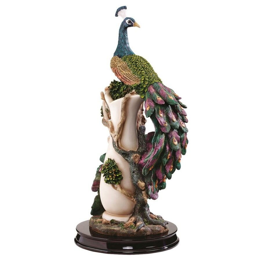 Design Toscano Peacocks Garden 17-in Animal Garden Statue