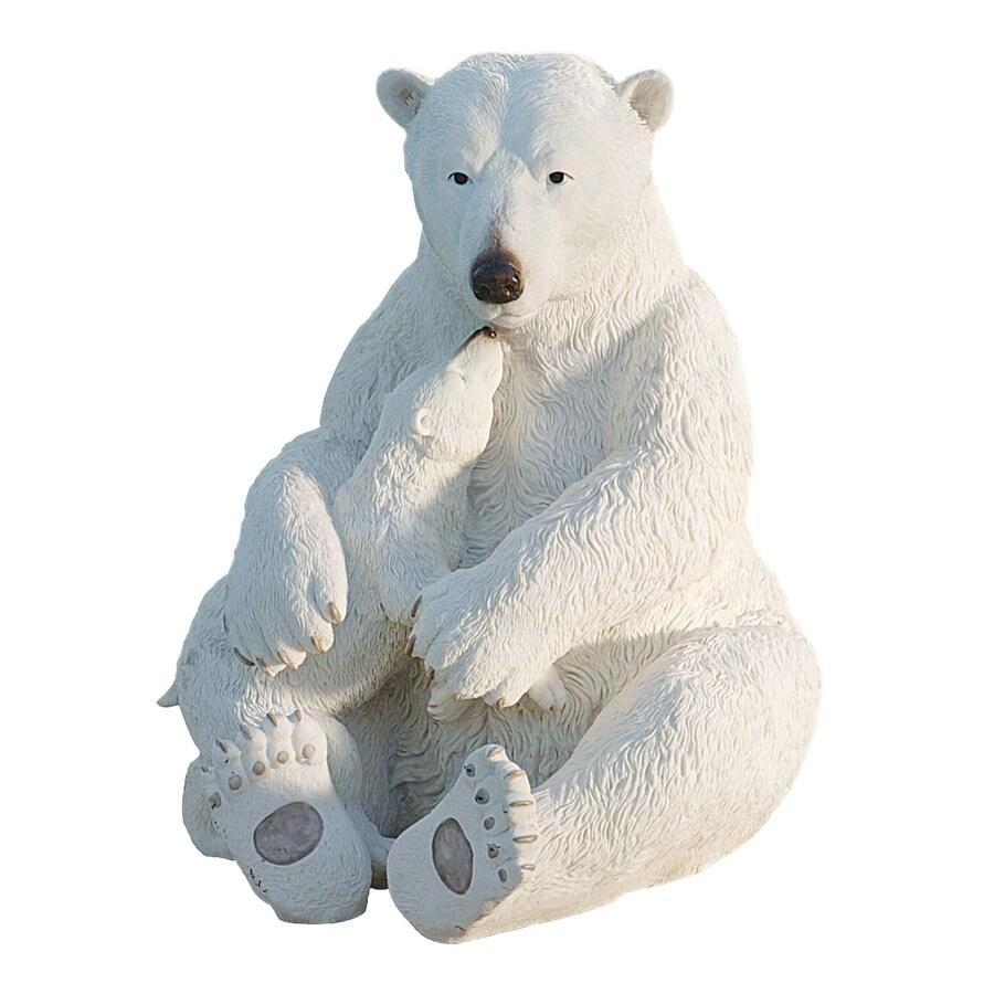 Design Toscano Polar Bear Pair 19-in Animal Garden Statue