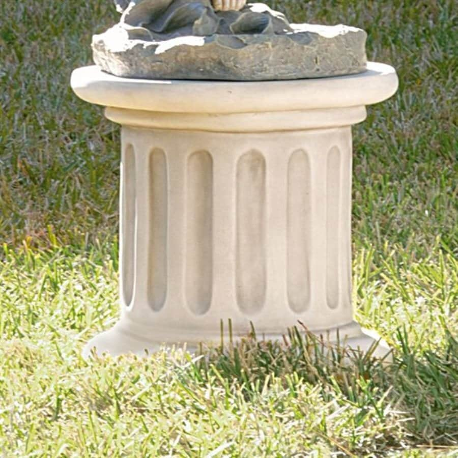 Design Toscano Classic Fluted Plinth 16-in Architecture Garden Statue