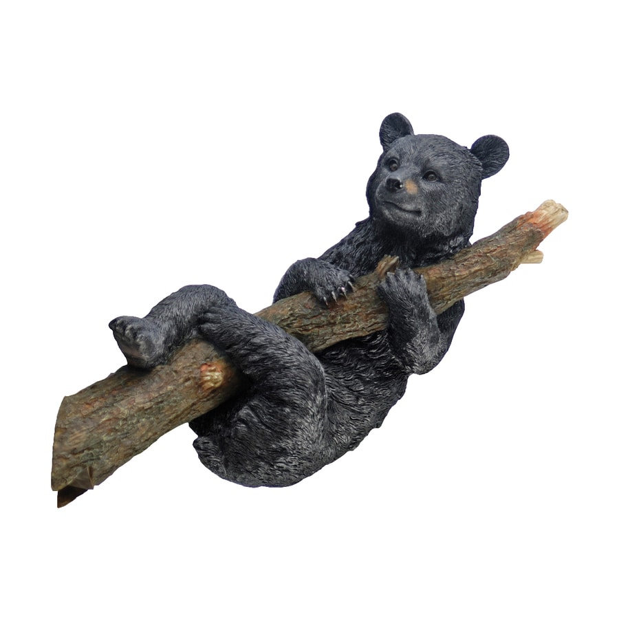 Design Toscano Up A Tree Hanging Black Bear Cub 8-in Animal Garden Statue