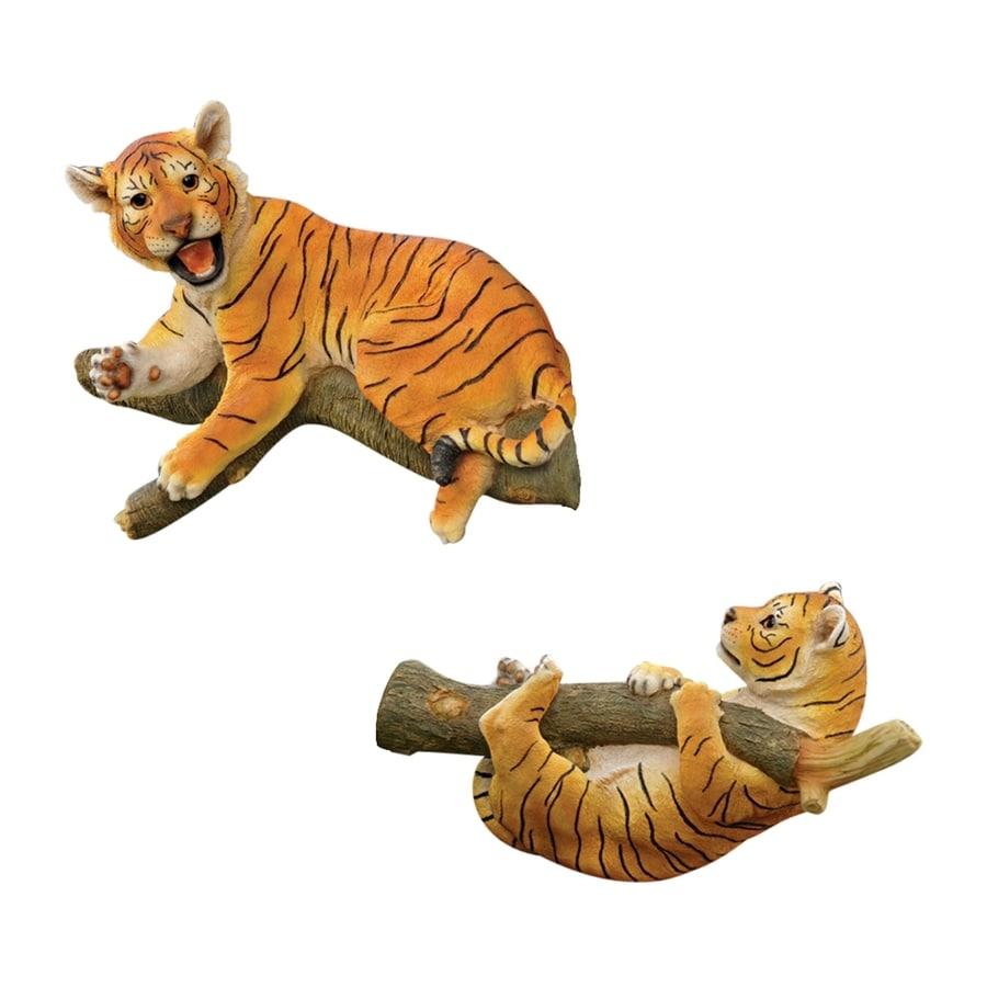 Design Toscano 2-Piece Up A Tree Tiger Cubs Garden Statue Set