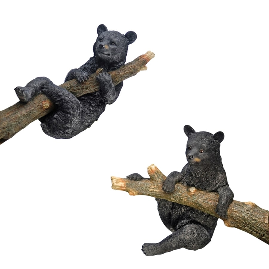 Design Toscano 2-Piece Up A Tree Black Bear Cubs Garden Statue Set