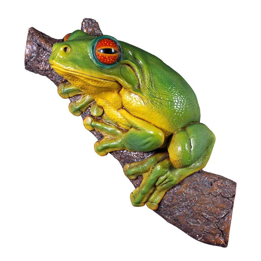 Design Toscano Red-Eyed Tree Frog 10-in Animal Garden Statue