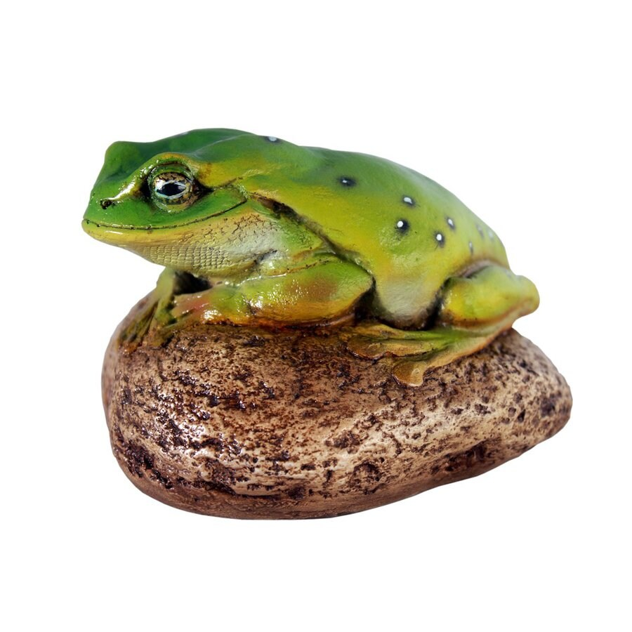 Design Toscano Toad On Rock 4-in Animal Garden Statue