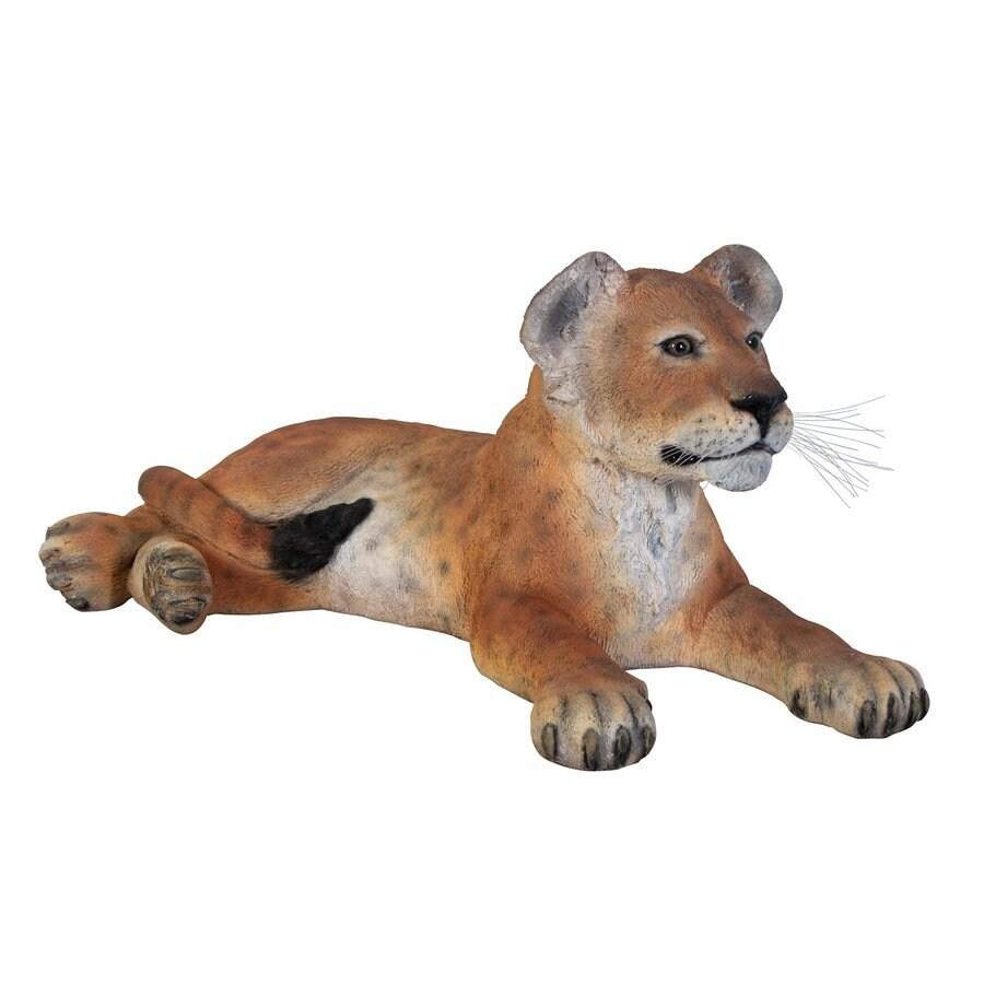 Design Toscano Grand Scale Lion Cub 15-in Animal Garden Statue
