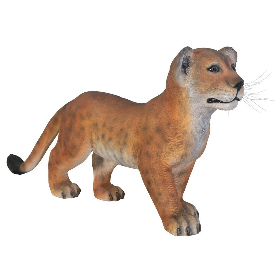 Design Toscano Grand Scale Lion Cub 15-in Animal Garden Statue