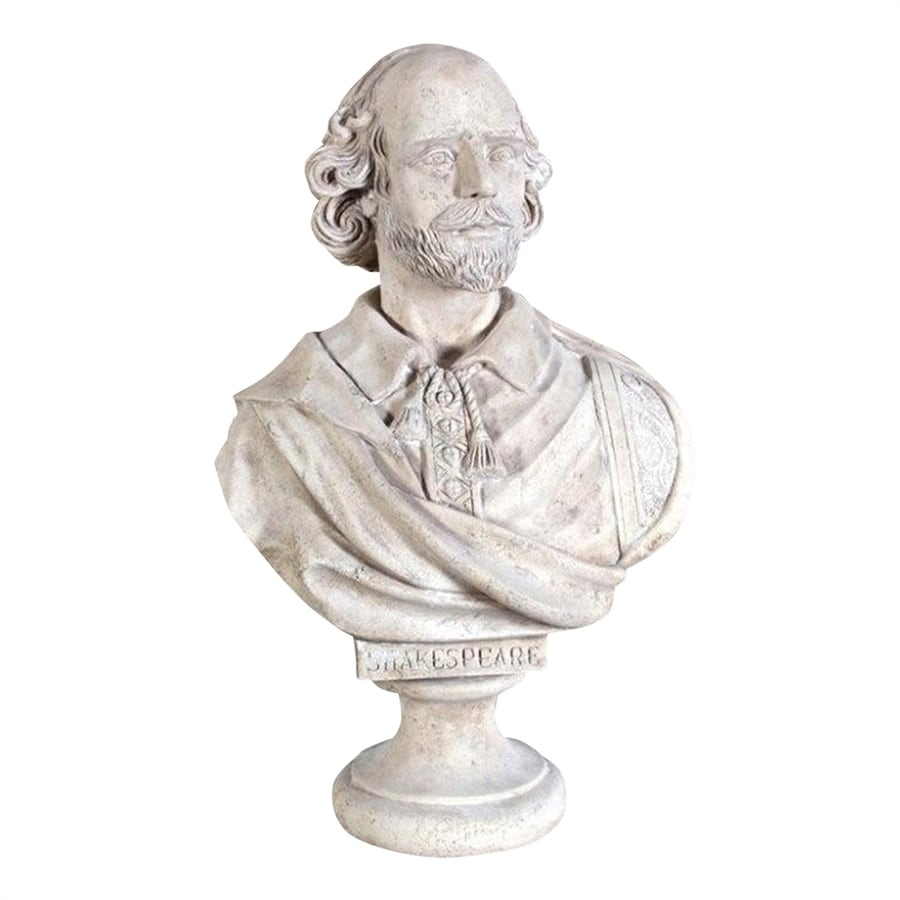 Design Toscano William Shakespeare Bust 31-in Garden Statue