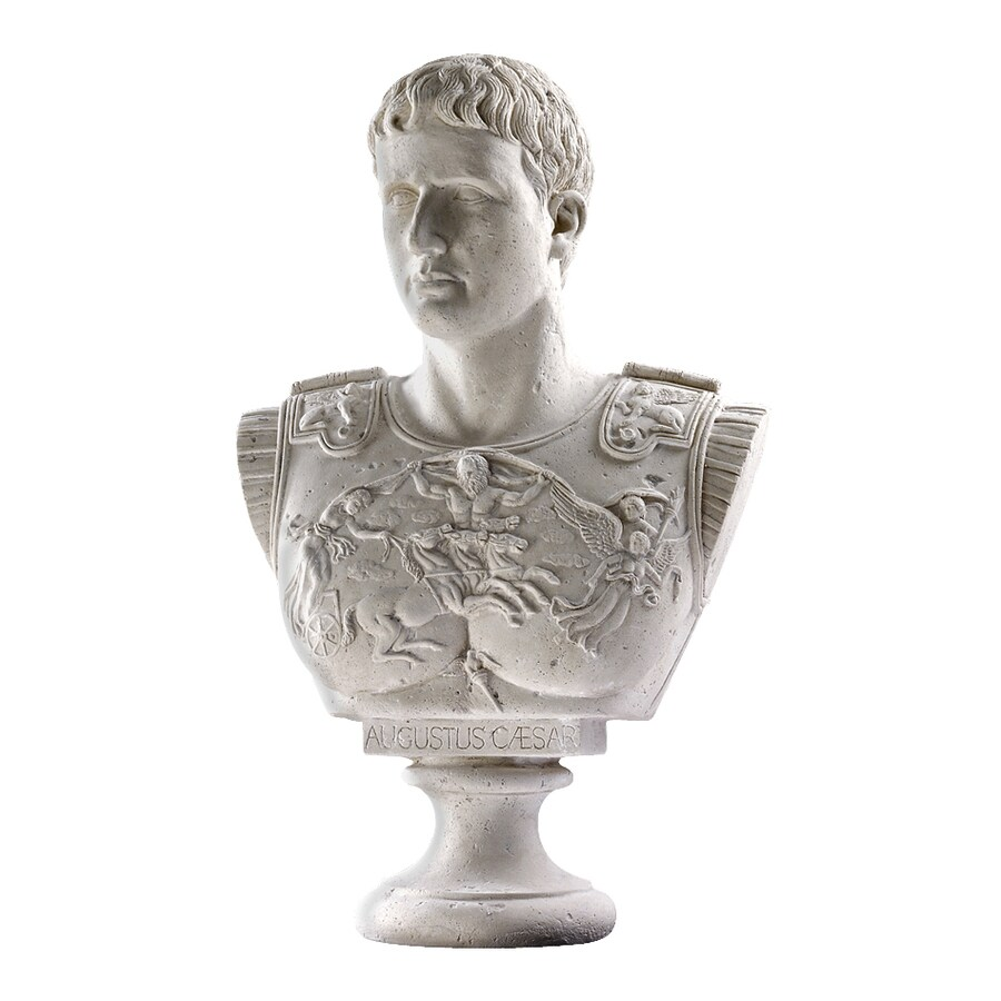 Design Toscano Caesar Augustus Of Prima Porta Bust 33-in Garden Statue