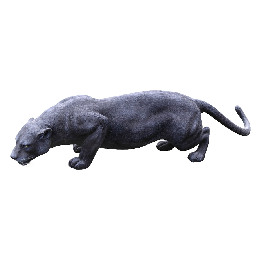 Shop design toscano grande black panther 16 in animal garden statue at - Grande statue design ...